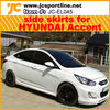 auto car parts PP car sideskirts side skirts for Accent Hyundai