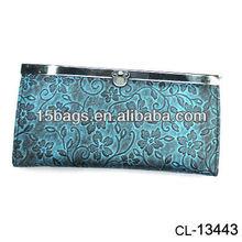 Fashion trendy custom flat pu wallet