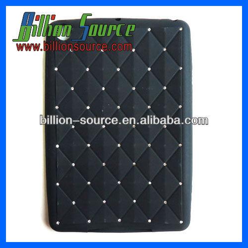 Wholesale silicone glitter diamante case for ipad mini