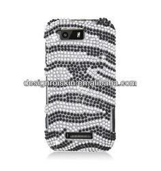 full diamond crystal case for motorola Photon Q 4G LTE XT897 Full Diamond zebra beauty case