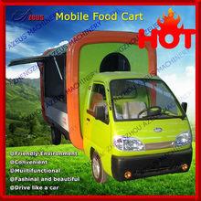 Electric mobile ice cream vending car