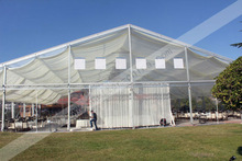 2012 hot sale clear span wedding party marquee tent with roof lining decoration