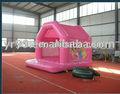 Princesa bouncer inflável/rosa inflável jumper/cama de salto inflável