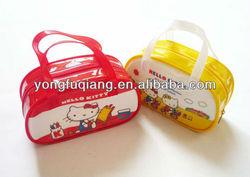 Fashion handle printing pvc designer kids wallets