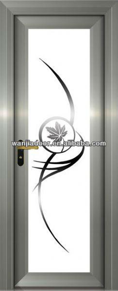 Puertas De Aluminio Blanco Para Baño:Sola puerta de diseño para el baño aluminum-131-Puertas