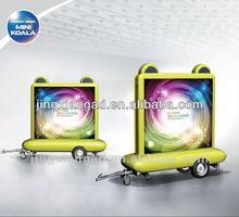 Mobile LED trailer for outdoor advertising
