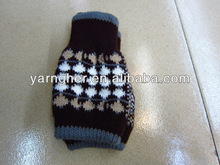 fashion winter warm polyester high thickness jacquard weave man/woman knitted fingerless gloves