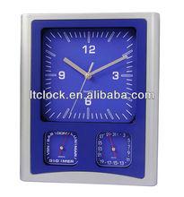 Siliver plastic weather station clock