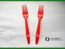 Colors PP disposable plasti flatware Fork,4.1g, P4101
