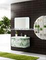 El último diseño de madera maciza mordern baño vanidad / mueble de baño con lavabo