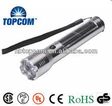 Aluminium Alloy Solar led flashlight