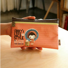 OEM Manufacture School Pencil Pouches with Leather Material,Shenzhen Fancy Bulk Cosmetic Case for Ladies