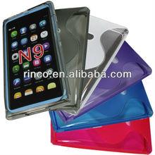 Soft Crystal TPU Gel Silicon Case for Nokia N9