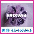 día de san valentín de regalo romántico 7 pcs y purle flor color de rosa de jabón de baño en caja del pvc