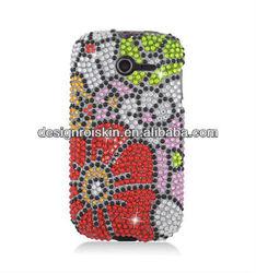 full diamond crystal case for Huawei Ascend Y M866 Full CS Diamond Protector Case Flower beauty case