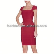 Peacock cocktail dresses short red color