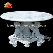 White Marble Table Garden With Children,Stone Table Garden