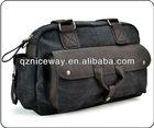 Dark grey canvas travel bag outdoor travel bag for men