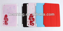 Officiall Smart Cover Case for iPad mini Smart cover leather case with DIY partner back case optional