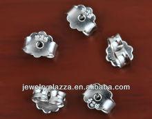 925 sterling silver jewelry component 18k gp 925 silver earring back stopper YPJ032