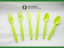 Green PP disposable plastic flatware , P410