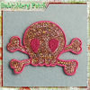 sequined skull applique for lady decoration