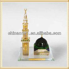Majestic Crystal Masjid Model For Islam Souvenir