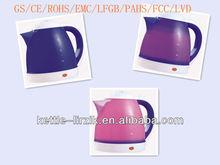 promotion automatic chameleon electric water kettle 1.5l color change