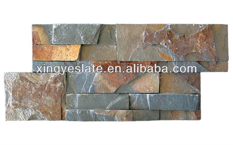 18x35 s forma piedra de pizarra oxidada revestimiento de - Piedra pizarra oxidada ...