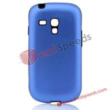 Simple Silicon Edge Metal Case for Samsung Galaxy S3 Mini i8190(Blue)