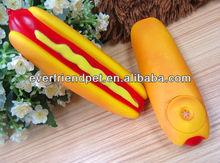 pet toy vinyl toy pet dog-13.7cm yellow small hotdog for per chew