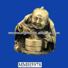 Antique novelty ceramic porcelain rum bottle