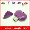 Plastic heart shaped usb flash drive 8gb