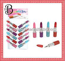 rhinestone lipstick ballpoint pen