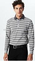 men's business stripe polo shirt