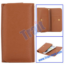 Hot-sell!! Wallet Leather Flip Case for Sony Xperia S LT26i with Card Slot from Trait