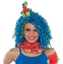 blue clown wigs