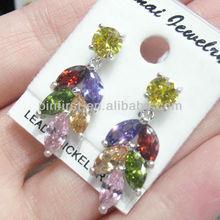 STOCK DEAL 12pcs/lot Gold Earrings Charm Jewelry Dangle Hook Eardrop