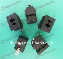 2 pin female dc power plug,PBT plastic socket