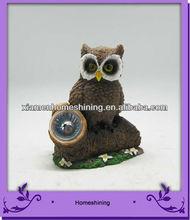 owl solar spot light garden resin ornament new design