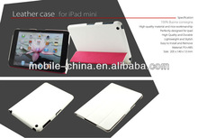 Foldable and stand leather case for ipad mini Cover