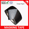 High Quality Crepe/Rubber Decorative Black Masking Tape