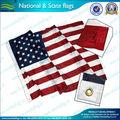 la bandera nacional de los estados unidos con ojeteador