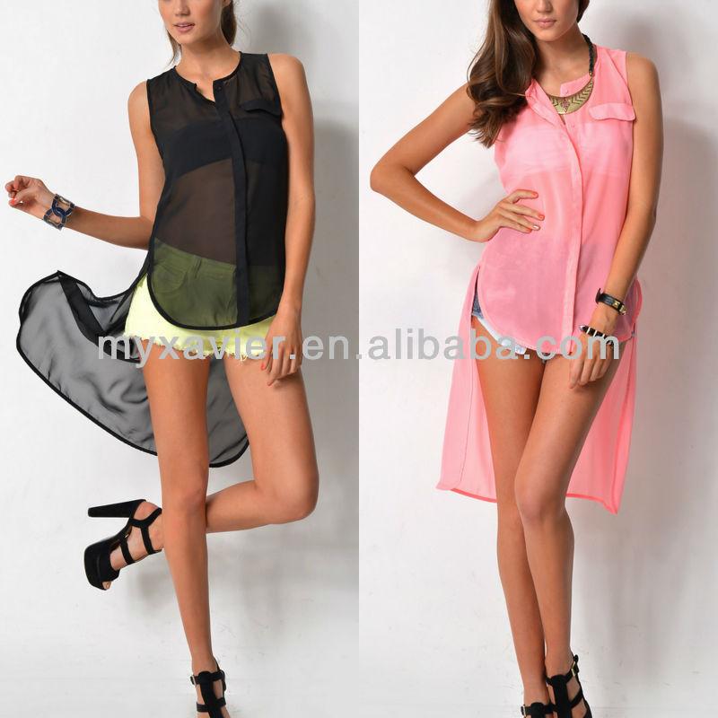 los modelos de blusas en chifon moda de blusas en chifon