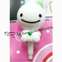 New arrival,cartoon phone dust plug,led cute beauty dust proof plug for phones