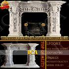 white marble fireplace, stone fireplace, stone fireplace mantel LF0083