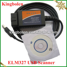 2013 Newly Wholesale OBD/OBDII scanner ELM 327 car diagnostic interface scan tool ELM327 USB