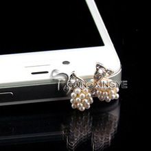 2013 diamond dust plug for iphone 4 ear cap, colorful dust plugs for mobile phones