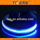 LED dog collar TZ-PET5005B2 Light up dog collar with single-line round optical fiber +Waterproof, bright colorful light