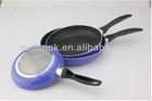3 pcs spider gridding new Aluminum NonStick fry pan set